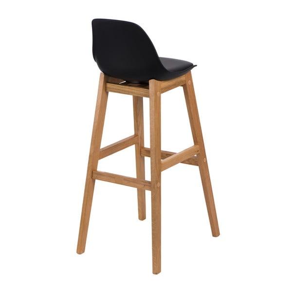 Krzesło barowe D2 Norden Wood, czarne