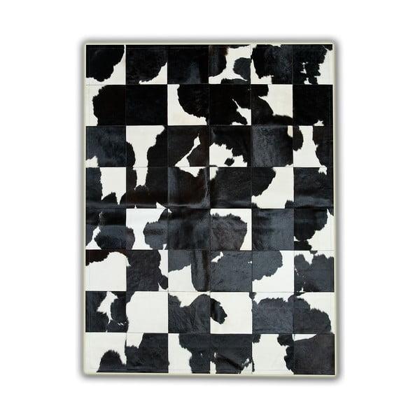 Dywan skórzany Black&White, 150x210 cm