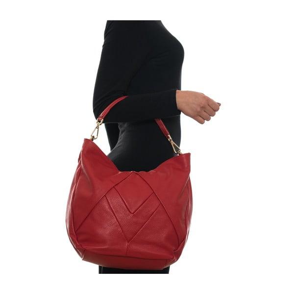 Skórzana torebka Fila, czerwona