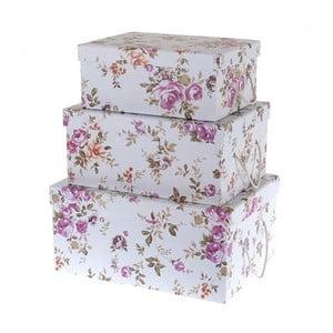 Zestaw 3 pudełek Purple Roses