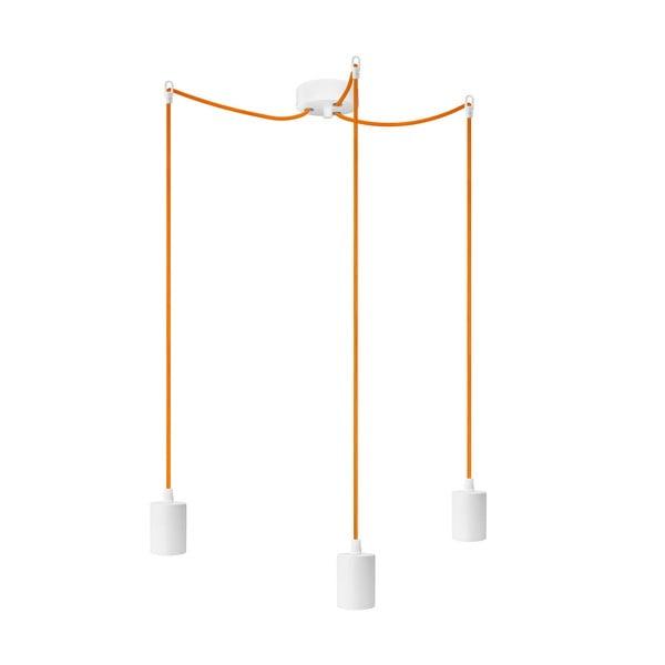 Pomarańczowo-biała potrójna lampa wisząca Cero
