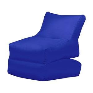 Niebieski leżak składany Sit and Chill Lato