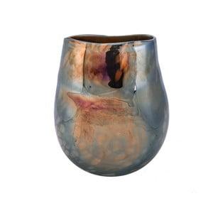 Szklany wazon w perłowym dekorze Dino Bianchi Latina, wysokość23cm