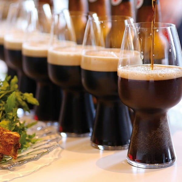 Zestaw 6 szklanek do piwa Stout