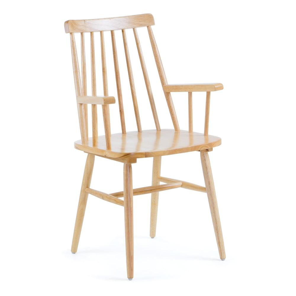 Krzesło z drewna kauczukowego La Forma Kristie