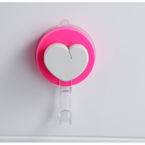 Różowy haczyk z przyssawką ZOSO Heart