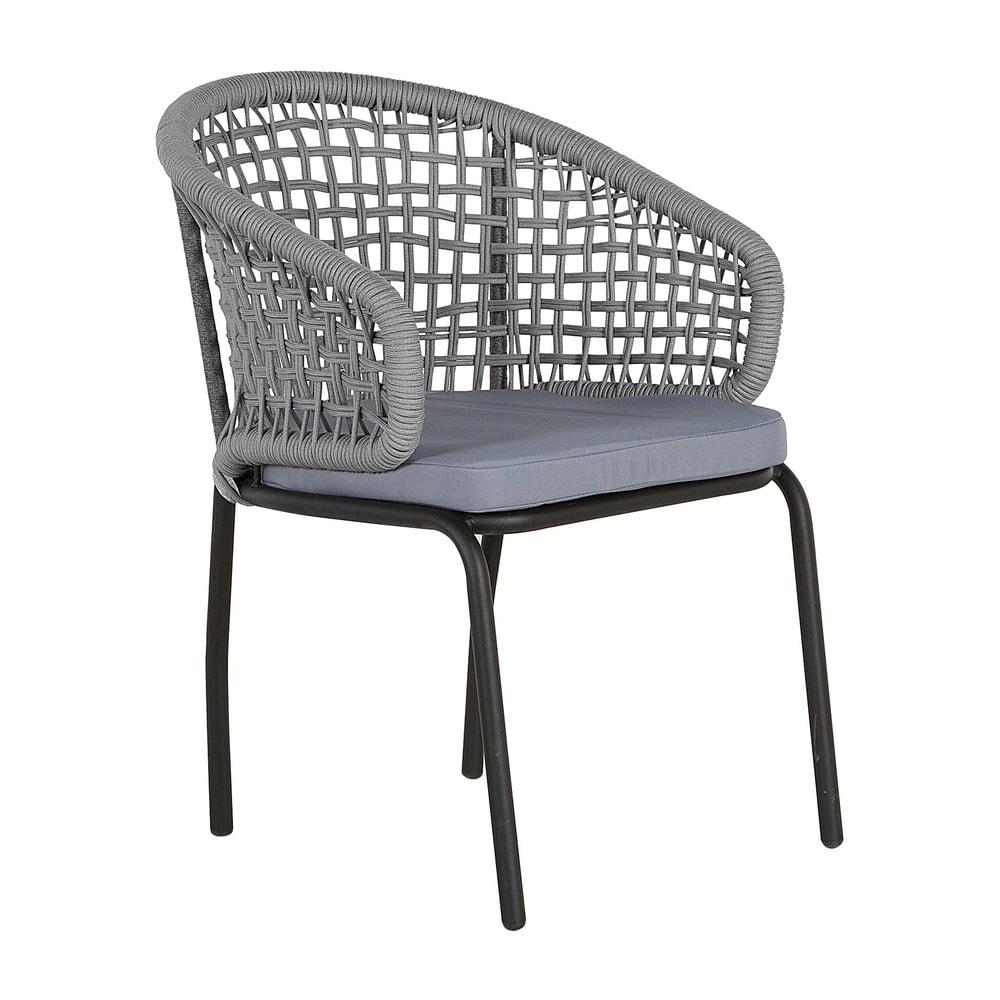 Zestaw 2 szarych krzeseł ogrodowych Monobeli Ibiza