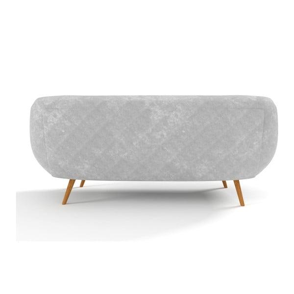 Trzyosobowa sofa Indigo, szara
