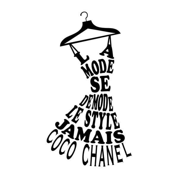 Naklejka Ambiance Coco Chanel Quote