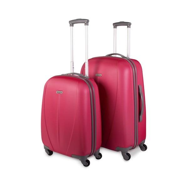 Zestaw 2 walizek Tempo, czerwony