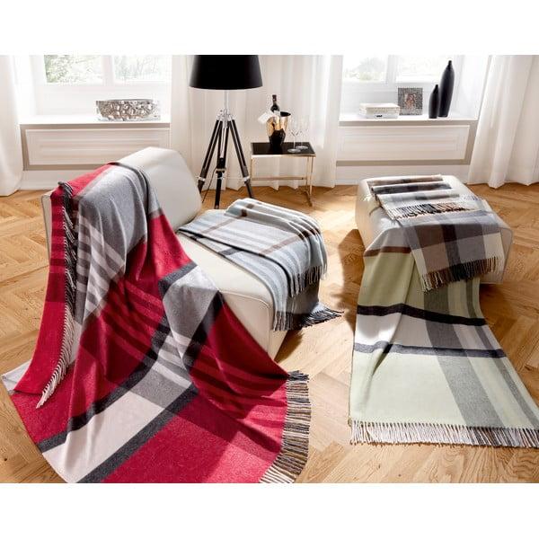 Pled Biederlack Karo Grey, 170x130cm