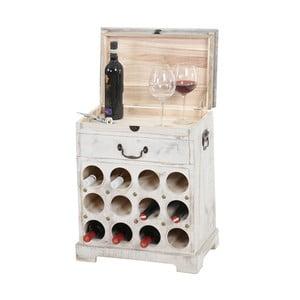 Biały stojak na wino (12 butelek) Mendler Shabby