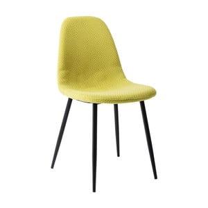 Żółte krzesło do jadalni Kare Design Capri Lime