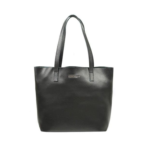 Skórzana torebka Amande, czarna