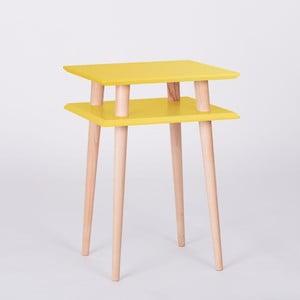 Stolik UFO Square Yellow, wys. 61 cm, szer. 43 cm