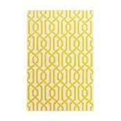 Dywan wełniany Camila Yellow, 140x200 cm