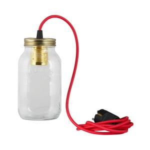 Lampa JamJar Lights, czerwony okrągły kabel