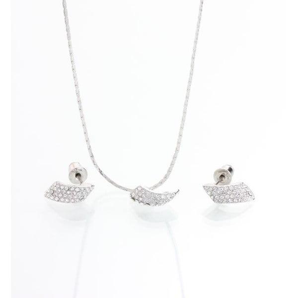 Komplet naszyjnika i kolczyków z kryształami Swarovskiego Yasmine Clow