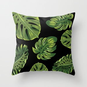 Poszewka na poduszkę Palm Black, 45x45 cm