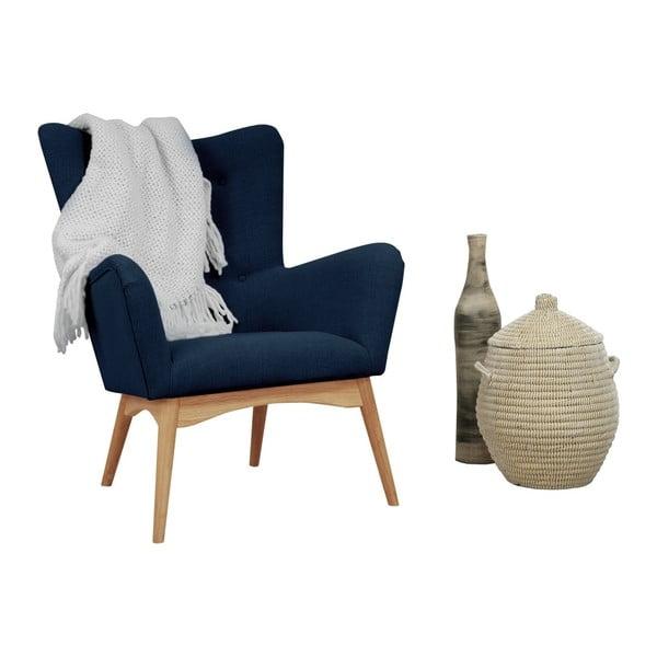 Niebieski fotel Helga Interiors Karl