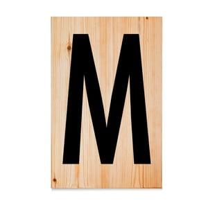 Drewniana tabliczka Letters M