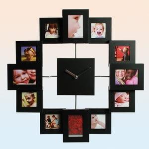 Zegar ścienny Family, czarny