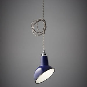 Lampa wisząca Miniature Angled Cloche Midnight Blue