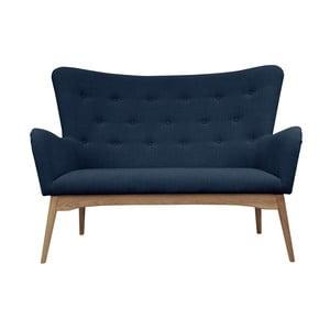Niebieska sofa dwuosobowa Helga Interiors Karl