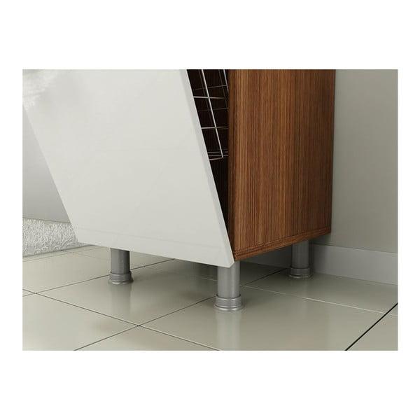 Szafka łazienkowa z koszem na pranie Mundo Walnut