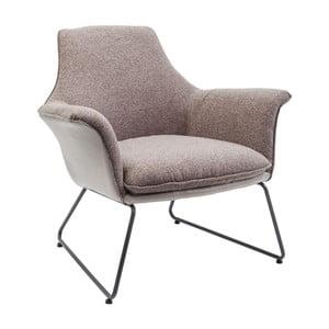 Jasnobrązowy fotel Kare Design Emma