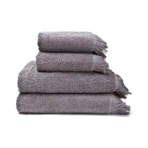 Zestaw 2 szarych ręczników i 2 ręczników kąpielowych ze 100% bawełny Bonami, 50x90+70x140 cm