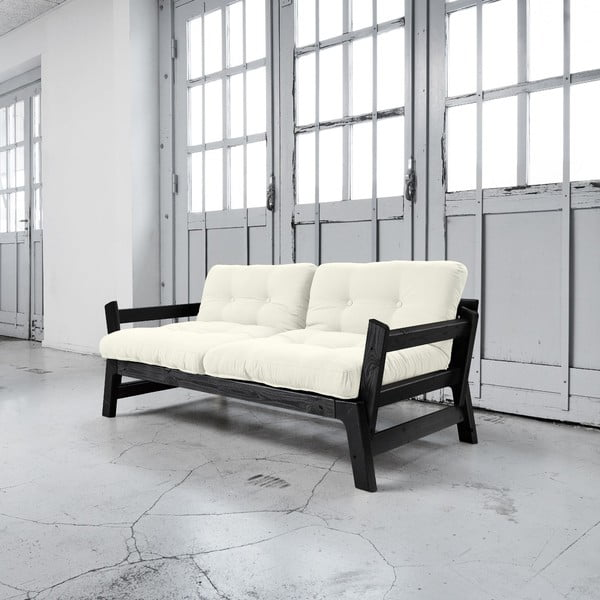Sofa rozkładana Karup Step Black/Natural
