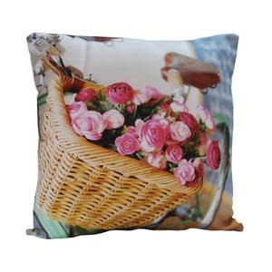 Poduszka Flowers in basket, 45x45 cm