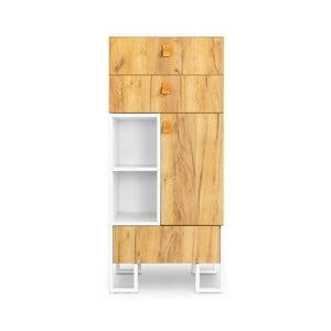 Komoda z 3 szufladami z drewna dębowego SKANDICA Hesse, wys. 135 cm
