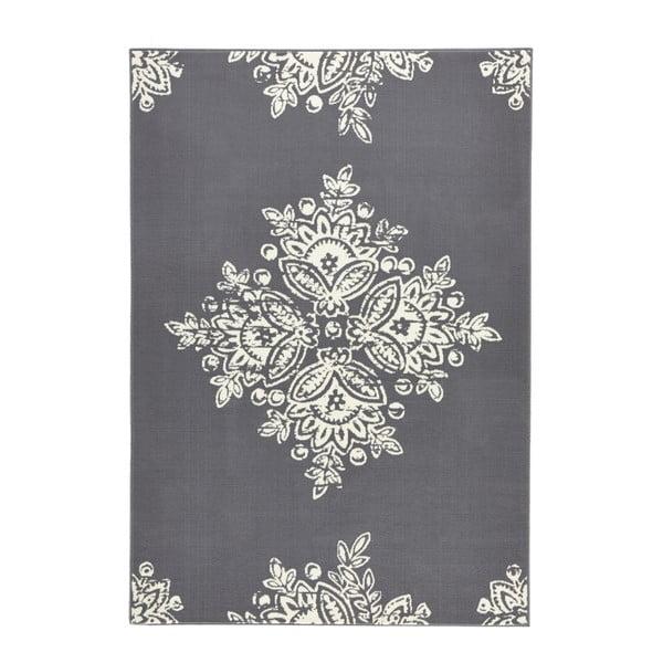 Szaro-biały dywan Hanse Home Gloria Blossom, 160x230 cm