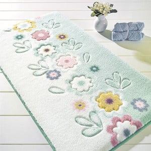 Turkusowy dywanik łazienkowy Confetti Bathmats April, 57x100 cm
