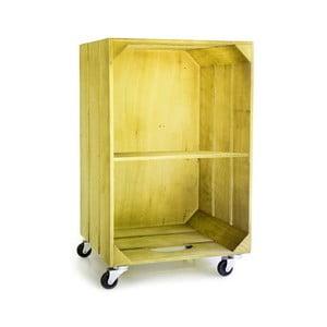 Rustykalna szafka drewniana Really Nice Things, żółta