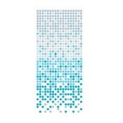 Zasłona prysznicowa White&Blue Dotted