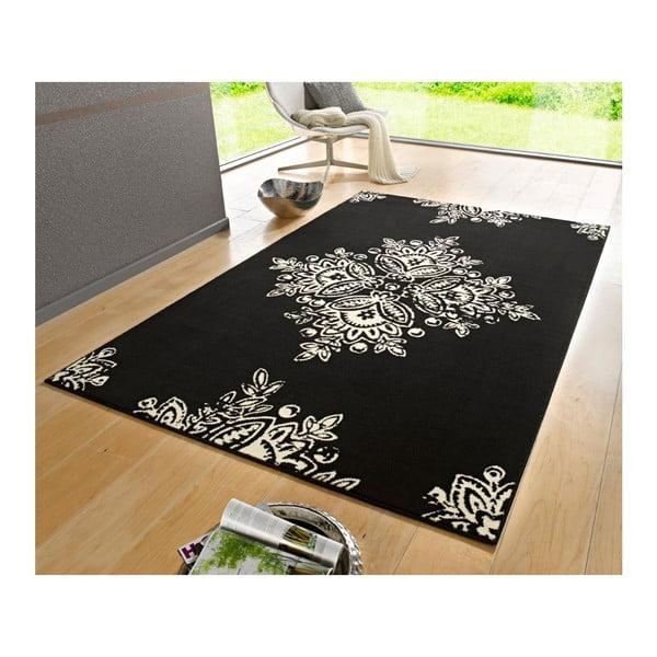 Czarny dywan Hanse Home Gloria Blossom, 80x150 cm
