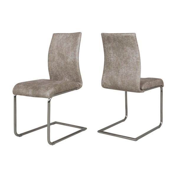 Zestaw 4 szarych krzeseł Canett Clipper