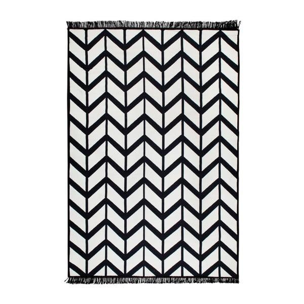 Czarny-biały dywan dwustronny Cihan Bilisim Tekstil Kirke, 120x180 cm