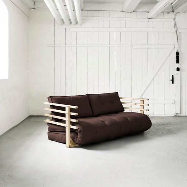 Sofa rozkładana dwuosobowa Karup Funk Natural/Brown