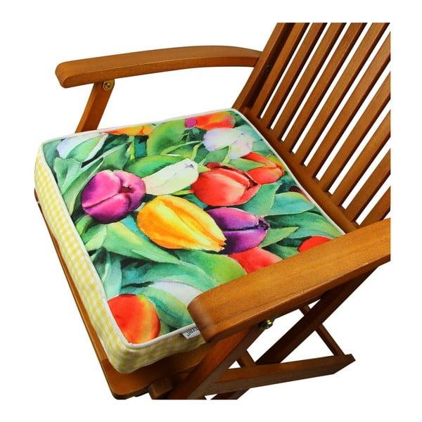 Poduszka na krzesło z wypełnieniem Gravel Newark, 42x42cm