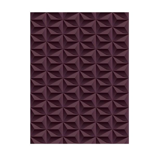 Winylowy dywan Origami Choco, 70x100 cm