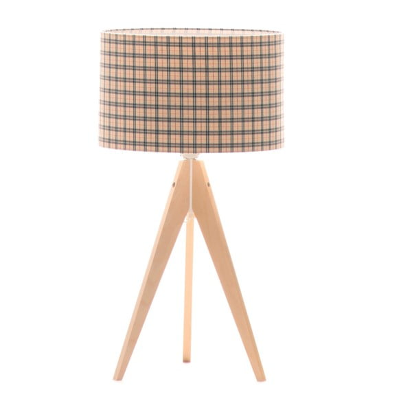 Lampa stołowa Artist Checks/Birch, 65x33 cm