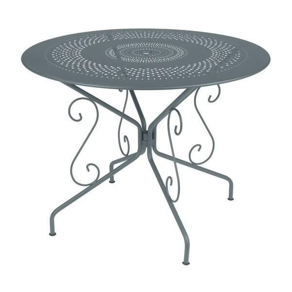 Ciemnoszary stół metalowy Fermob Montmartre, Ø 96 cm