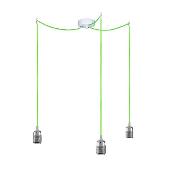 Trzy wiszące kable Uno, srebrny/zielony/biały