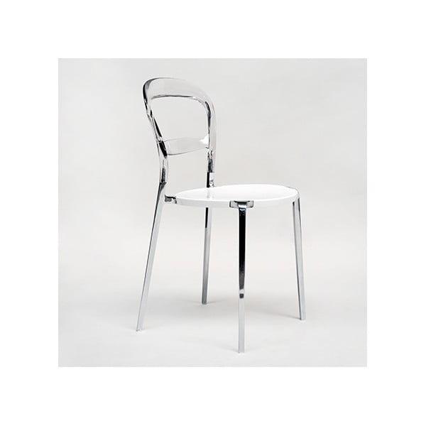 Krzesło Thalassa Alu Transaprent/White