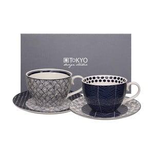 Zestaw 2 filiżanek ze spodkami Tokyo Design Studio Cappuccino Scale/Web