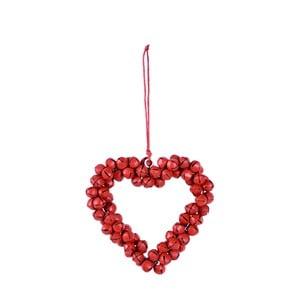 Wiszące serce dekoracyjne z dzwoneczków Ego Dekor Bells